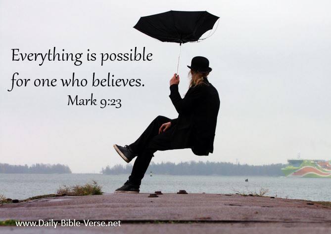 Daily Bible Verse | Faith | Mark 9:23 (NKJV)