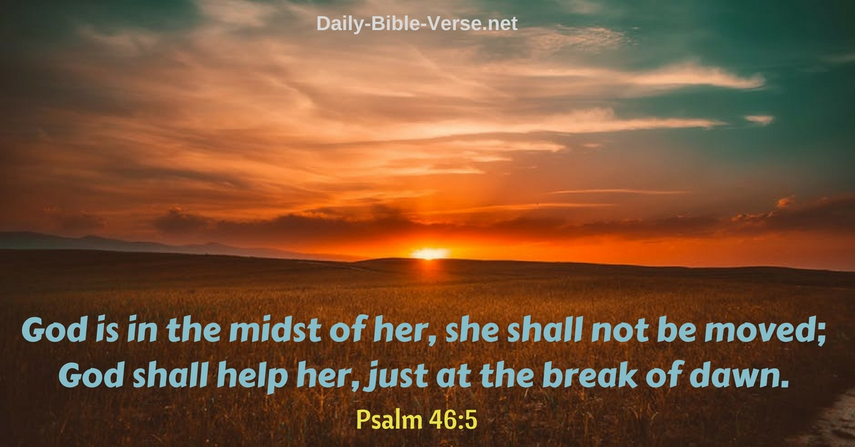 Daily Bible Verse | Strength | Psalm 46:5 (NKJV)