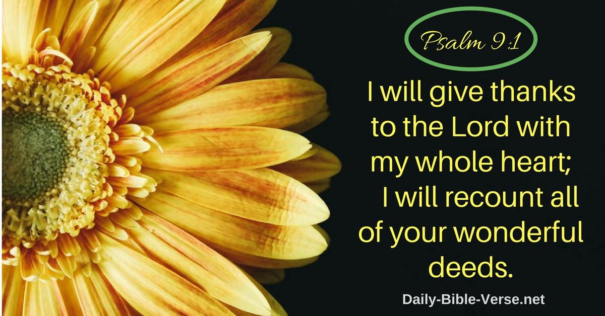 Daily Bible Verse | Daily Prayer | Daily Prayer - Psalm 9:1